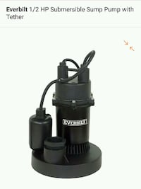 1/2 hp Submersible Sump Pump with Tether NEW  Cypress, 90630