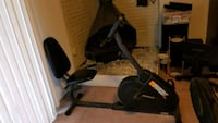 black and gray recumbent stationary bike Silver Spring, 20906