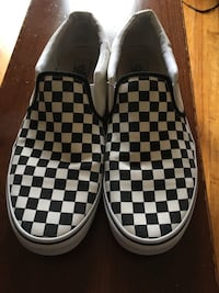 Checkered Vans Sneakers Slip-on sz 13 Lawrence Township