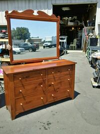 Ethan Allen dresser with matching mirror