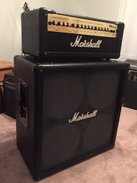 Marshall half stack with solid state amp head
