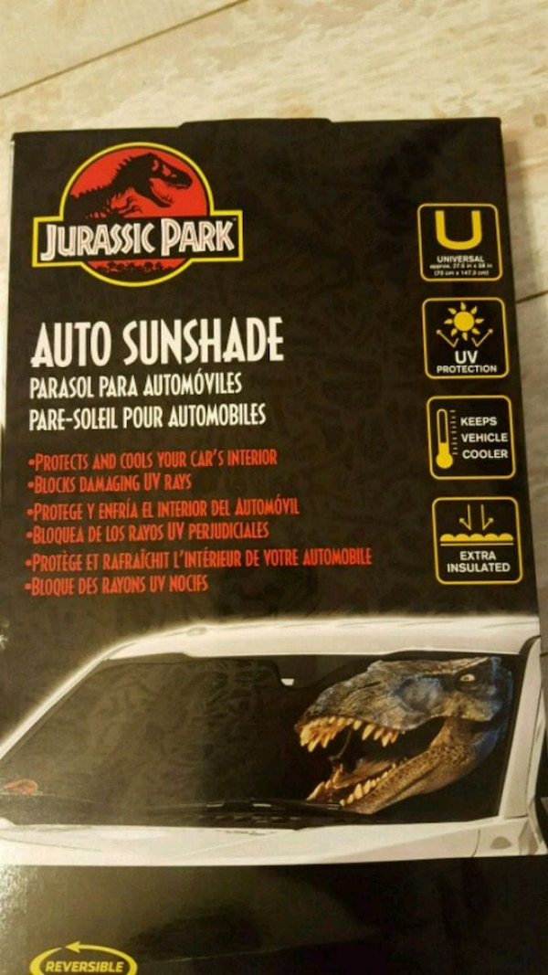 Used Jurassic Park Windshield Sun Shade for sale in Austin - letgo 78fde7e3b96