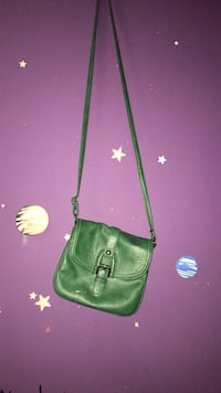 green leather crossbody bag with silver chain link bracelet London, N6B 4N5