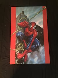 Wood Mounted Spider-Man Poster Bolton