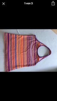 Lila und orange stripe halter shirt screenshot Münster, 48149