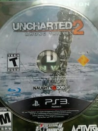 Uncharted 2 Among Thieves PS3 game disc