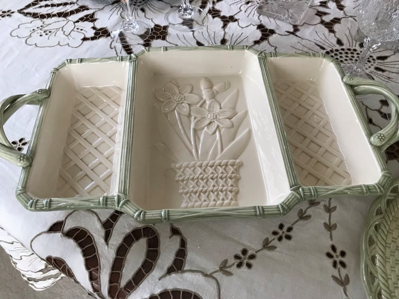Easter serving dish and deviled egg plate 92efe15a-18a2-454d-ae1d-b12907ad8a40