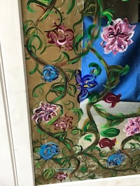 green, blue, and red floral painting Leesburg