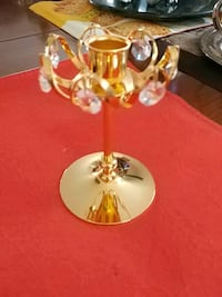 Gold-toned, crystal candle holder Laval, H7G 1G2