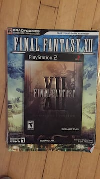 Final Fantasy 12 PS2 PlayStation 2 game + strategy guide Winnipeg, R3T 1L3