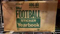 1984 Topps Football Cards Sticker Album Case Wooster, 44691