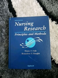 Sjätte utgåva Nursing Research book Farsta strand, 123 00