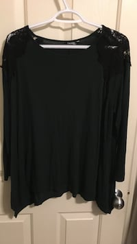 Green Shirt with Black Lace St Albert, T8N 0V2