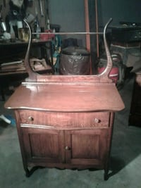 brown wooden single drawer side table Hagerstown
