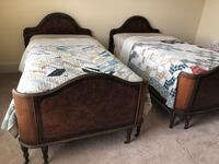 Antique twin beds w/mattresses and box springs Hoover, 35022