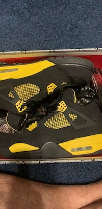 black-and-yellow Air Jordan 4 shoes Gaithersburg, 20879