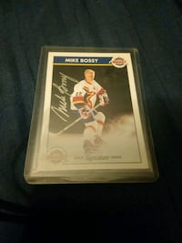 Mike Bossy autographed Zellers hockey card Edmonton, T6H 5G1