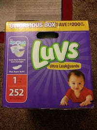 Luvs pampers size 1 252 in the box Charlotte, 28212