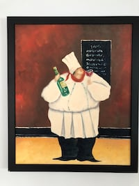 Fat chef with wine painting  Avon-by-the-Sea, 07717