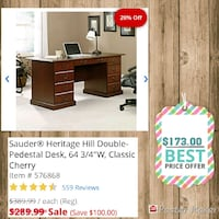 brown wooden desk with hutch Temple Hills