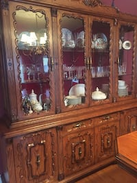 brown wooden china buffet hutch Mississauga, L4Z 0A9