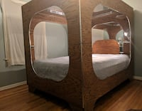 Queen Size Mirrored Box Bed with Lights (Mattress not included) Mobile