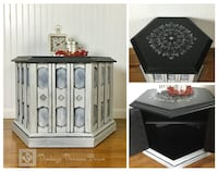 Vintage European Hexagon Accent Table and Cabinet Alexandria, 22310