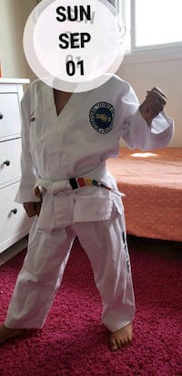 Taekwondo ,fits 4,5,6 years old , I bought them last year for $175 Ottawa, K2G 2A8