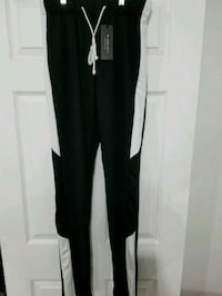 Men Black & White Slim fit Track Pants  Grand Prairie, 75052