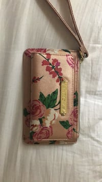 Pink and green floral wristlet Charlotte, 28216