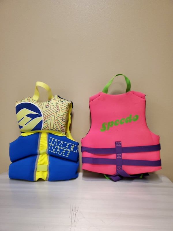 CHILD FLOTATION JACKETS - buy individually as priced or both as bundle 0d00e3ad-8ac0-4c55-bd6b-cca578304681