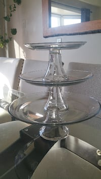 Cake/Dessert Glass Trays Brampton