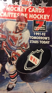 Factory sealed box of WHL hockey league hockey cards from Canada Sterling Heights, 48312