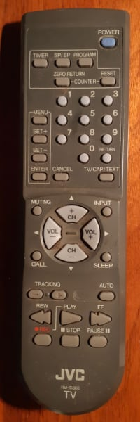 Genuine JVC RM-C388W TV Remote Control TV-12143 TV- [TL_HIDDEN] 3143W EUC  Shows wear associated with a used remote  (Ref # Bx 2)