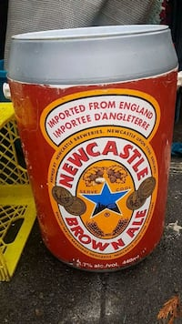 New Castle beer cooler /garbage can
