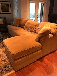 "Lazy Boy sectional, gold corduroy, cotton fabric. 108"" long. Like new.  Waterdown, L8B 0J6"
