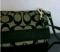 black and gray Coach leather wristlet Vancouver, V5X 1N4