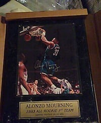 ALONZO MOURNING 1993 ROOKIE PLAQUE  Charlotte, 28273
