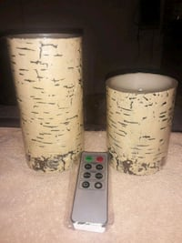 Faux Birch LED Candles