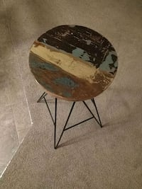 Wooden bar stool with steel legs Calgary, T3R
