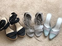 Size 7 Pre loved shoes. The middle pair wasnt used. The other 2 are used 1-2x  Oakland, 94607