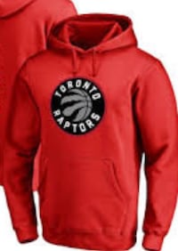 Red and black toronto raptors pull over hoodie