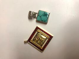 Necklace pendants lot of two