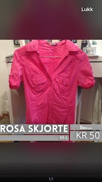 Rosa button-up collared skjorte skjermdump Oslo, 1054