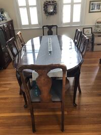 Brown wooden dining table set Lynnfield, 01940