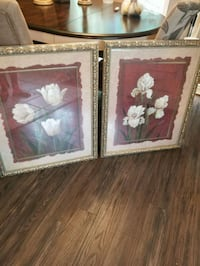 two brown wooden framed painting of flowers Staten Island, 10301