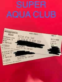 Super Aqua Club tickets Montréal, H9H 3X7
