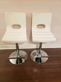 Two white bar stools Mississauga, L5B