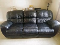 all black leather recliner couch New Albany, 47150