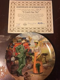 Collector plate with cert of authenticity  Spring Grove, 17362